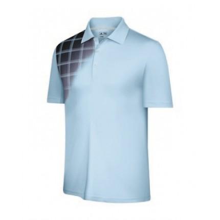 Adidas Mens ClimaCool Plaid Fade Polo