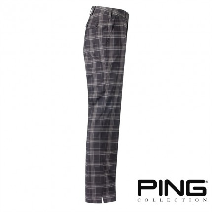 PING Mens Lima Checked Golf Trousers - Black Multi