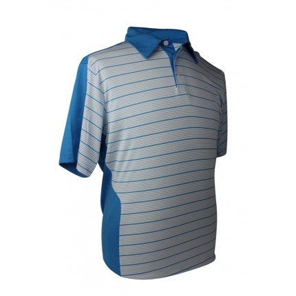 Adidas Mens ClimaCool Stripe Polo - Plain Collar