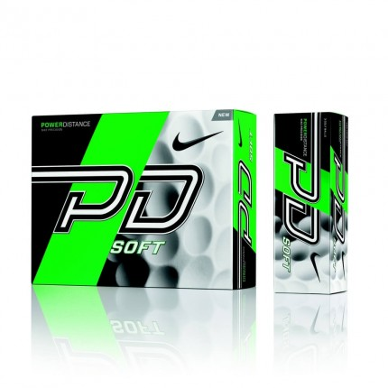 12 Nike Power Distance 9 Soft Golf Balls White