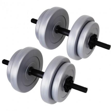 Palm Springs 20kg Vinyl Dumbbell Weight Set Silver