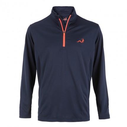 Woodworm 1/4 Zip Golf Pullover - Navy/Red