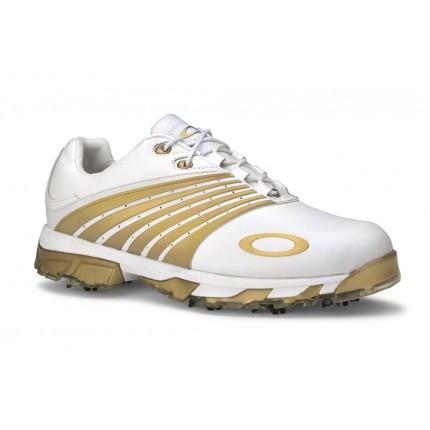 Oakley Full Auto Tour Golf Shoe - White/Gold