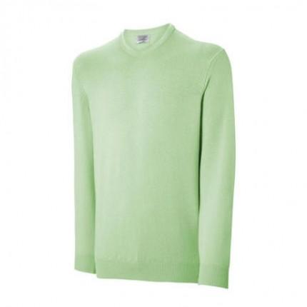 Ashworth Mens Lambswool V Neck Sweater - KIWI - Small