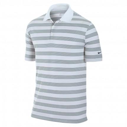 Nike Golf Tech Stripe Polo - White/Black