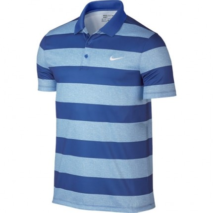Nike Golf Modern Fit Victory Bold Stripe Polo - Blue