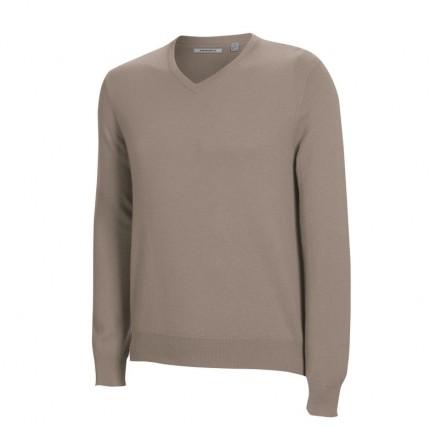 Ashworth Mens Long Sleeve V Neck Merino Sweater