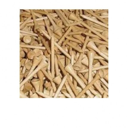 500 Wooden Golf Tees - 2 3/4""