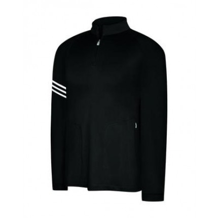 Adidas ClimaLite 3 Stripes Half Zip Mock Pullover