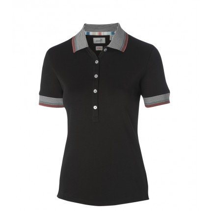 Ashworth Ladies EZ Tech Tipped Polo Black