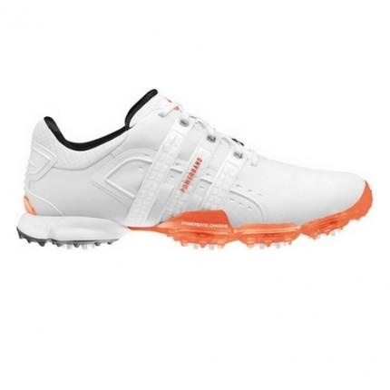 Adidas Powerband 4.0 Golf Shoes - White / Orange 7