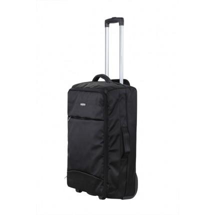 "Swiss Case 24"" Lightweight Folding Suitcase Black"