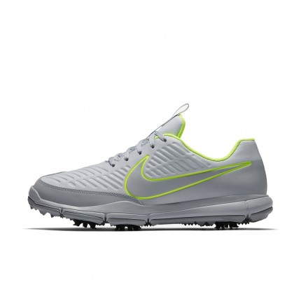 Nike Explorer 2 S Golf Shoes - Platinum / Volt