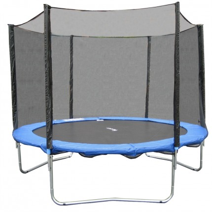 Woodworm 10FT Trampoline - Safety Net / Ladder / Cover