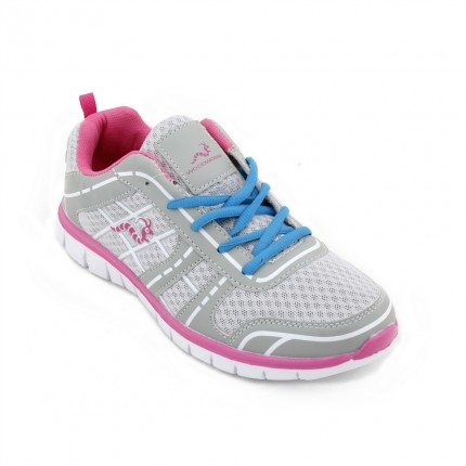Woodworm FWS Ladies Running Shoes / Trainers - Grey