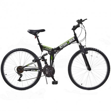 Ex-Demo Stowabike Folding MTB V2 Mountain Bike Black / Green