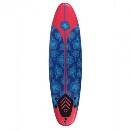 North Gear 6ft / 182cm Foam Surfboard Blue / Red