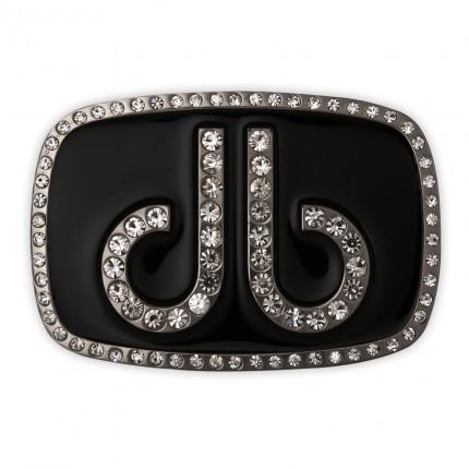 Druh Diamante Oval Buckle - Black