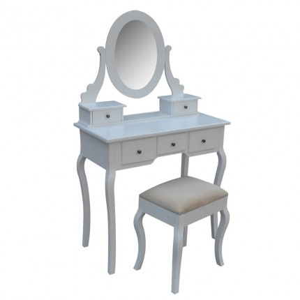 Homegear Parisian Dressing Table & Stool Set