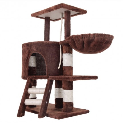 Confidence Pet Deluxe Cat Tree - Brown