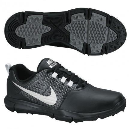 Nike Explorer Golf Shoes - Black / Silver / Grey