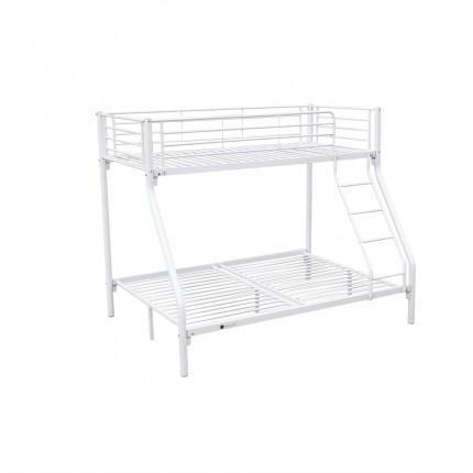 Homegear Triple Sleeper Metal Bunk Bed White