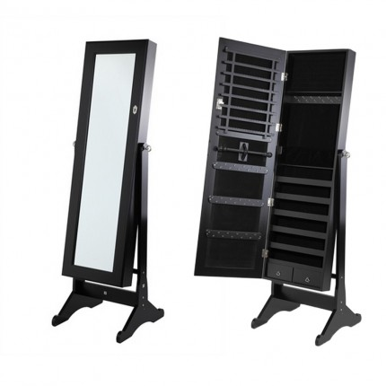Homegear Mirrored Jewellery Cabinet with Stand