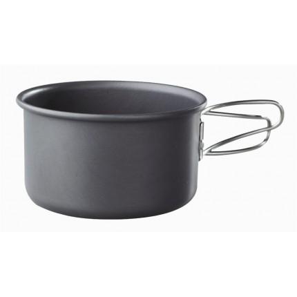0.5L Hard Anodized Aluminium Pot by Camping.co.uk