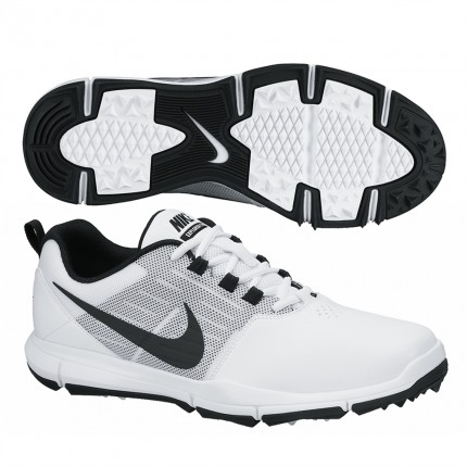 Nike Explorer Golf Shoes - White / Black