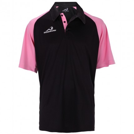 Woodworm Pro Cricket Short Sleeve Shirt Pink