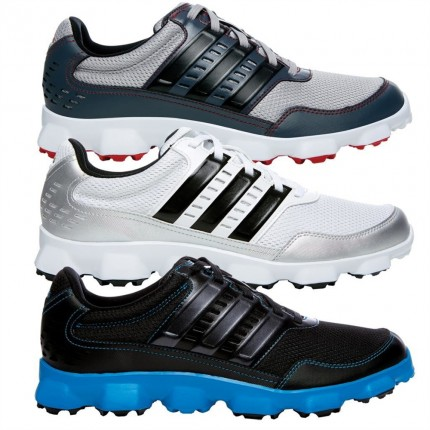 Adidas Crossflex Spikeless Golf Shoes White / Black / Silver 12