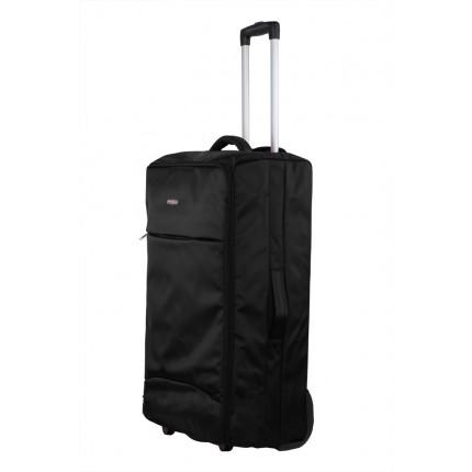 "Swiss Case 28"" Lightweight Folding Suitcase Black"