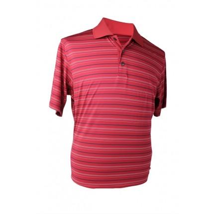 Adidas Mens ClimaCool Fine Stripe Polo