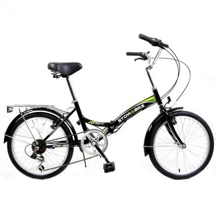 Stowabike Folding City V2 Compact Bike Black / Green