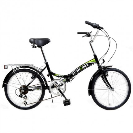Ex-Demo Stowabike Folding City V2 Compact Bike Black / Green