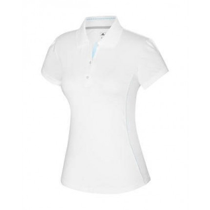 Adidas ClimaCool Ladies White Base Piped Polo