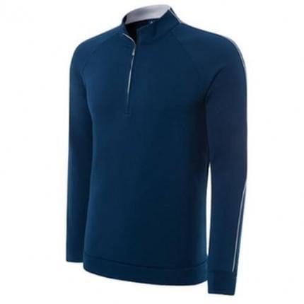 Adidas Climalite Layering Top Zip Vivid Blue