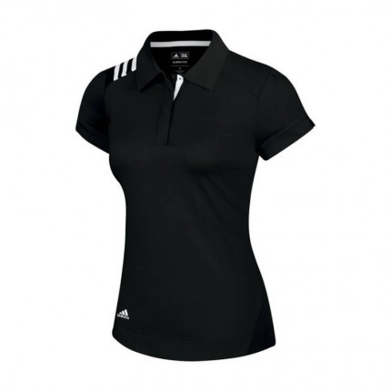 Adidas Ladies ClimaCool 3-S S J Polo Blk