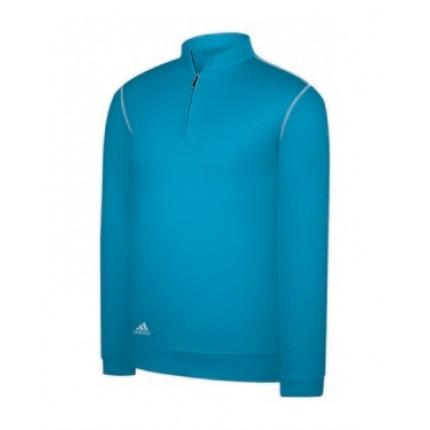 Adidas Mens Zip Mock Sweatshirt