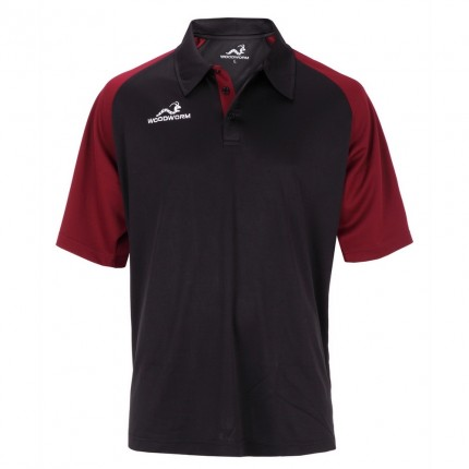 Woodworm Pro Cricket Short Sleeve Shirt Maroon
