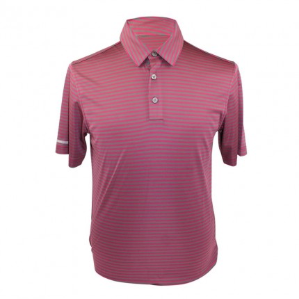 Ashworth Performance Pencil Stripe Polo Shirt