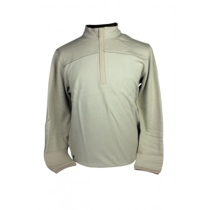 ASHWORTH FLEECE ZIP ECRU HTR
