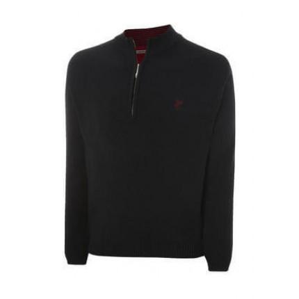 Ashworth Half Zip Sweater Mens Blk