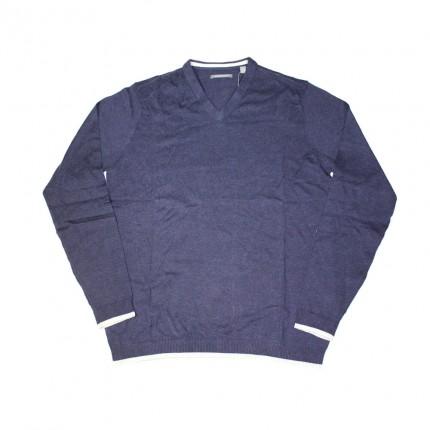 Ashworth Mens V-Neck Sweater With Trim