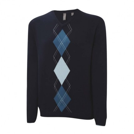 Ashworth Mens Argyle Placement Sweater