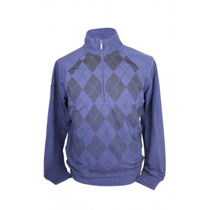 Ashworth Mens Argyll Half Zip Sweater