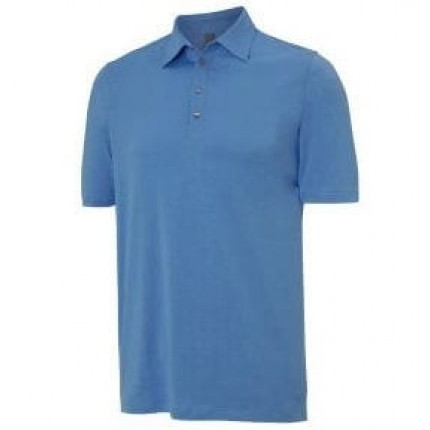 Ashworth Solid Basic Pima Polo Azure