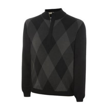 Ashworth Mens Half-Zip Pattern Sweater