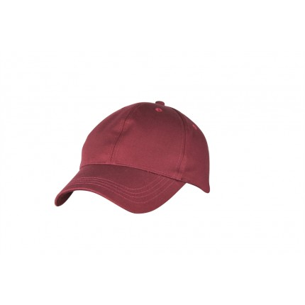 Woodworm Cricket Plain Cotton Cap - Maroon