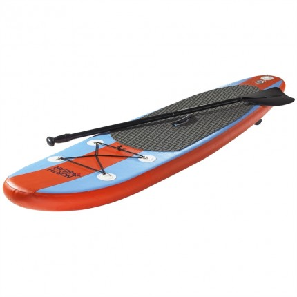 Ex-Demo North Gear 8FT Inflatable Stand up Paddle Board - Ocean Blue / Orange